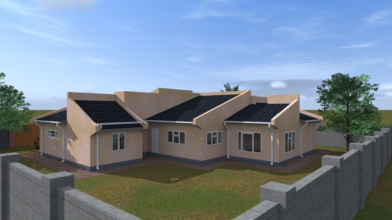 four bedroomed house plans in zimbabwe modern house