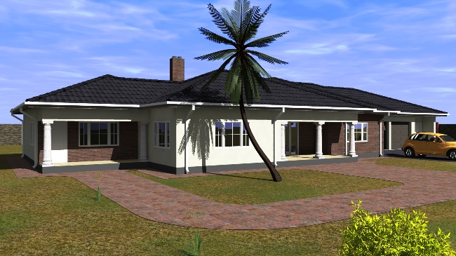 Four bedroomed house plans in zimbabwe modern house for House design service